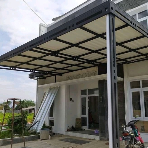 Harga Kanopi Kaca Tempered Laminate Model Minimalis Elegan